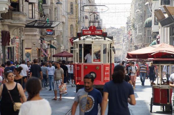 tranvía calle istiklal